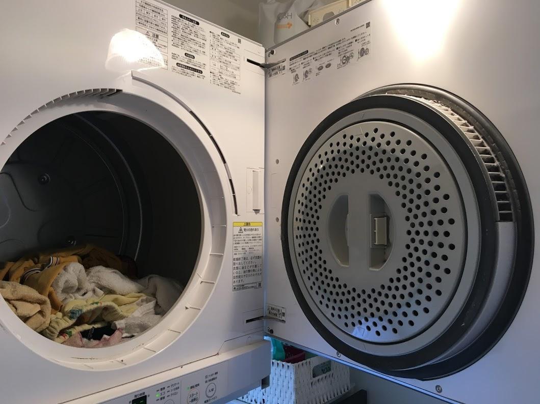 ガス乾燥機 洗濯物